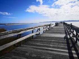 Fishing pier still damaged from Mathew in 2016