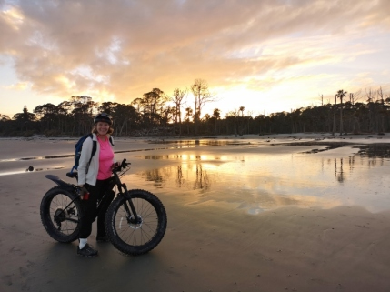 Ride along the beach at sunset