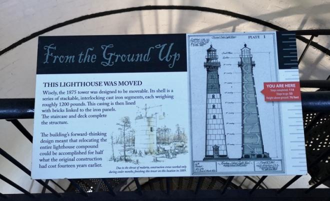Each level had info on the lighthouse
