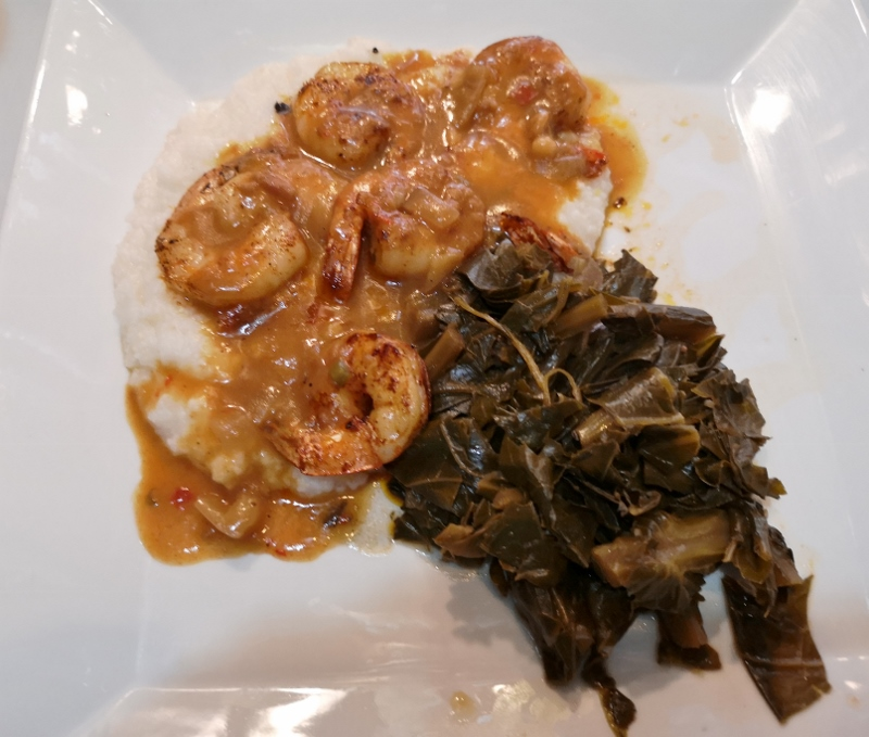 Sharon's Shrimp, Grits, and Collard Greens