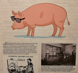 Customers paid to see Blind pig exhibitions and got a free drink with it