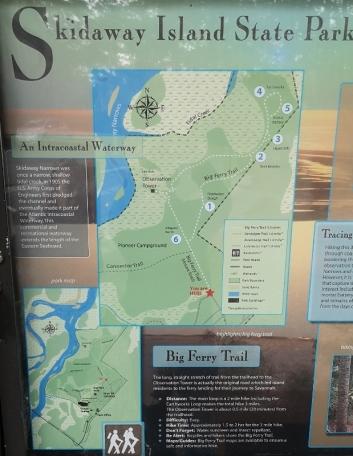 Skidaway Island Trail map