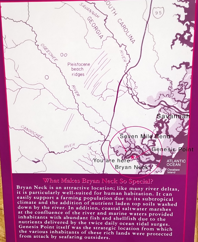Location of Genesis Point and Fort McAllister