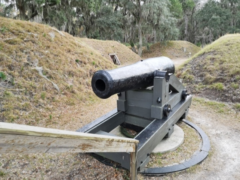 Coumbiad Canon which shot 87 lb sheels with a range of 2,500 yards