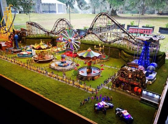 Amusement park model all operational