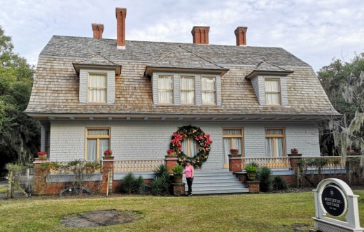 Mistletoe Cottage circa 1900 - now that's a big wreath