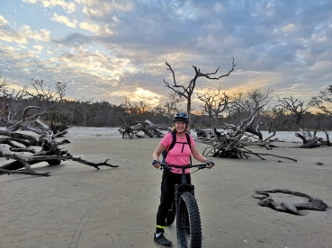 Riding Driftwood Beach