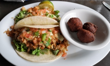 FishTacos with Coconut Corn Fritters