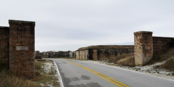 Entrance to Fort Pickens built in 1834