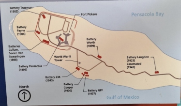 Batteries of Fort Pickens area