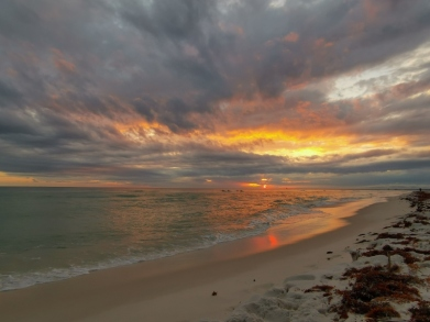 Sunset on our final night at Fort Pickens