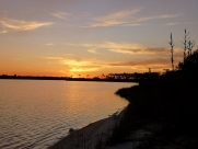 Sunset over the Intracoastal Waterway prior to star gazing