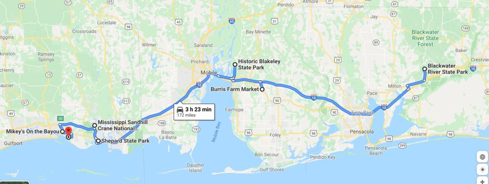 RV Trip 6.14 map