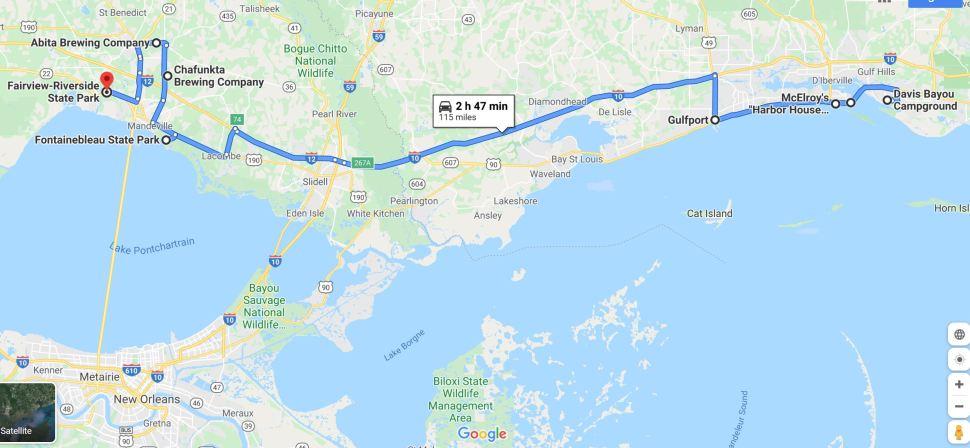 RV Trip 6.15 map
