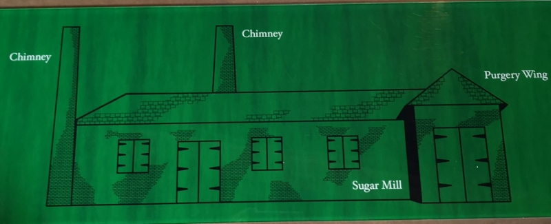 Fontainebleau Sugar Plantation - only chimneys and partial walls remain - it eventually closed due to dropping sugar prices