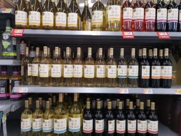 We figured we could use the Oak Leaf Wines at $2.50 per bottle as a sanitizer