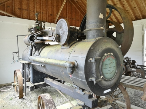 Steam Powered Groundhog Sawmill