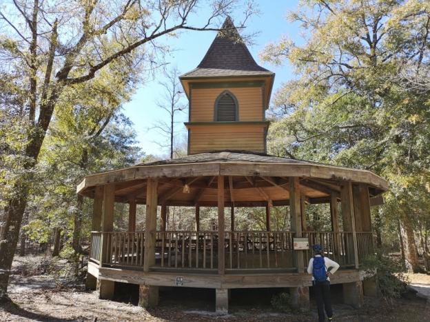 Evangelical Covenant Church Steeple preserved on pavillion