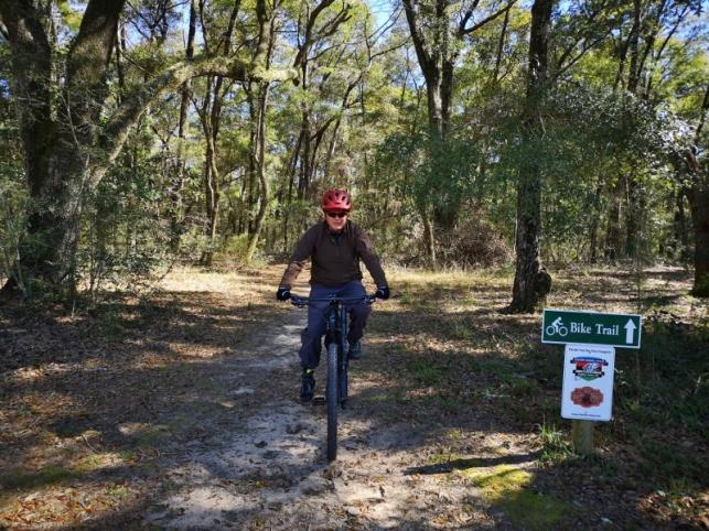 Start of Bike Trail