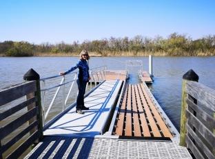 Interesting chute to slide canoe or kayak into water