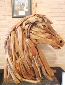 Horse sculpture in visitor center