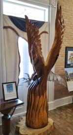Eagle Sculpture in visitor center