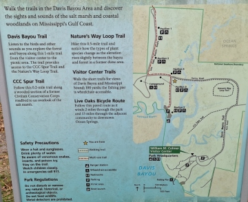 Davis Bayou trails