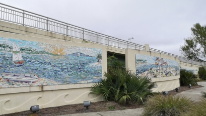 Mississippi's largest mosaic mural on the Biloxi bridge