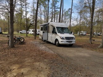 Campsite at Fontainebleau SP