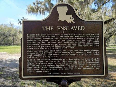 Where the slaves lived for the sugar mill