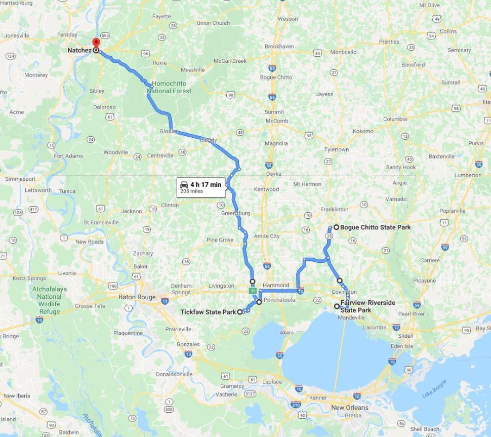 RV Trip 6.16 map